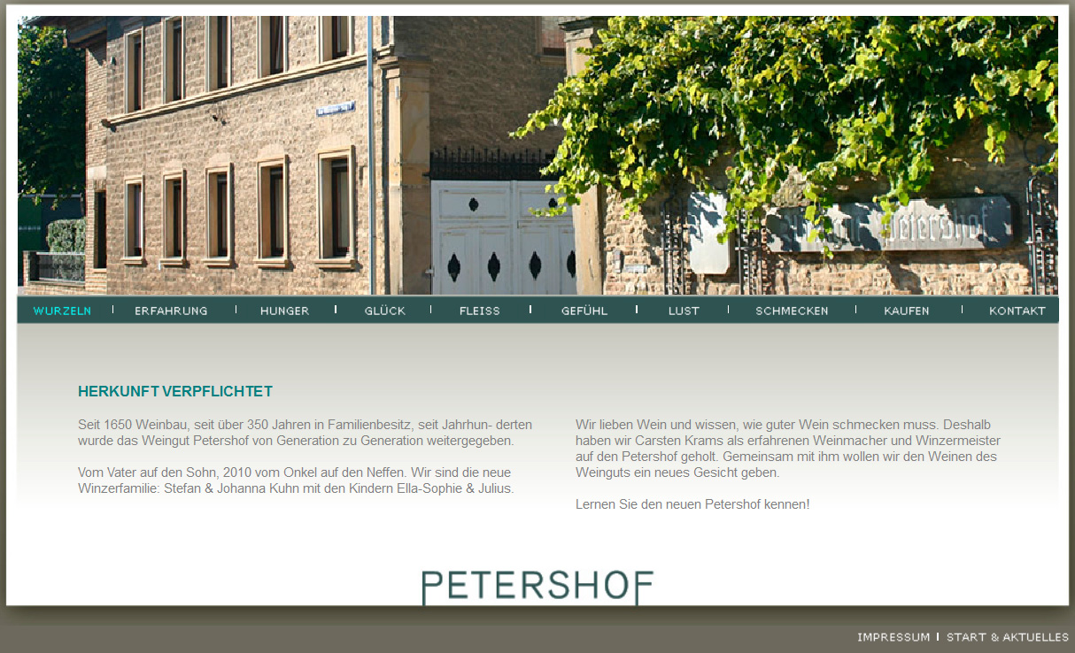 petershof_homepage